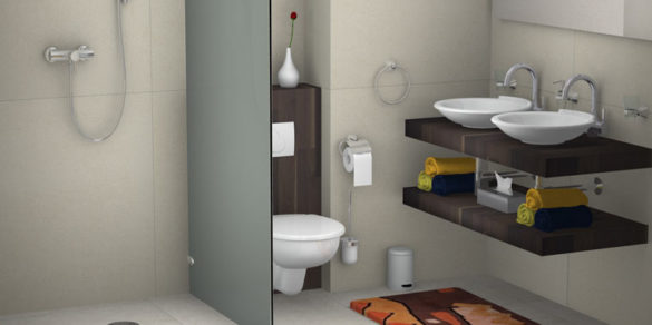 Bad mit Holzdesign